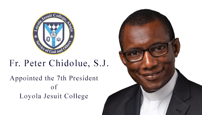 Fr. Peter Chidolue, SJ appointed the 7th President of Loyola Jesuit College