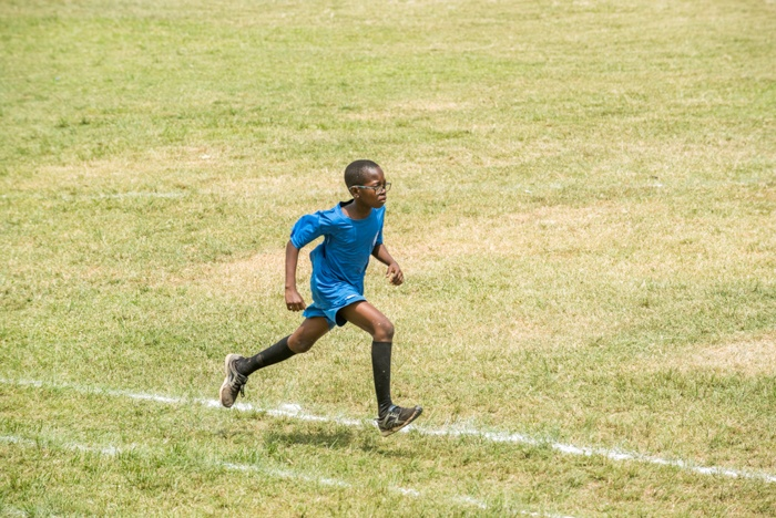 Atanda Mobadewa demonstrates perseverance during the 2016-2017 Loyola Jesuit College Inter-House Sports.