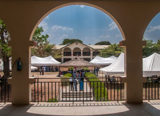 Loyola Jesuit College Open Day. A view overlooking the gazebo from the junior block.