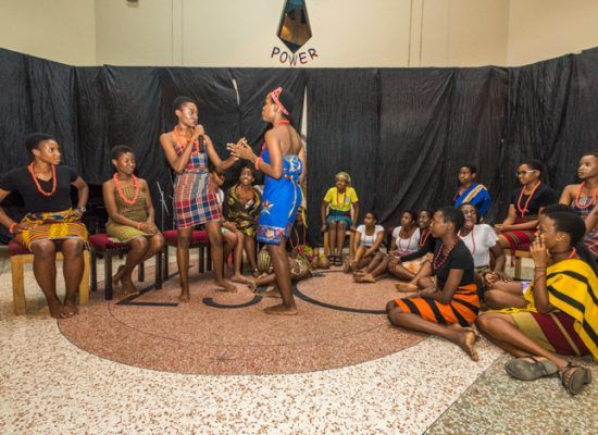 A Short drama during 3-Angels Memorial Christian Concert at Loyola Jesuit College, Abuja.