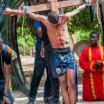 12th Station: Jesus dies on the cross.